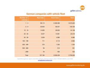 Companies with vehicle fleet