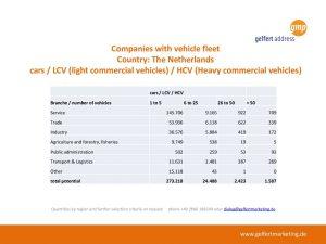 vehicle fleet netherlands (cars, LCV and HCV)